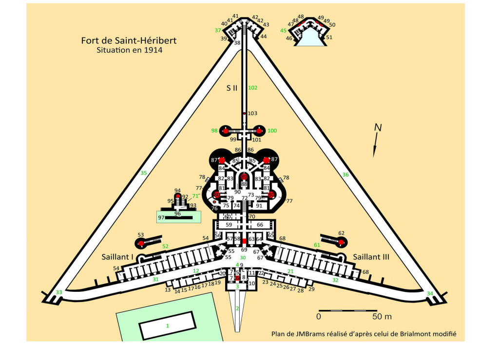1-1 - 1914 - Plan du fort